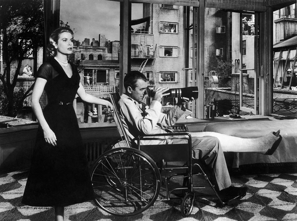 James Stewart - rear window - & Grace Kelly