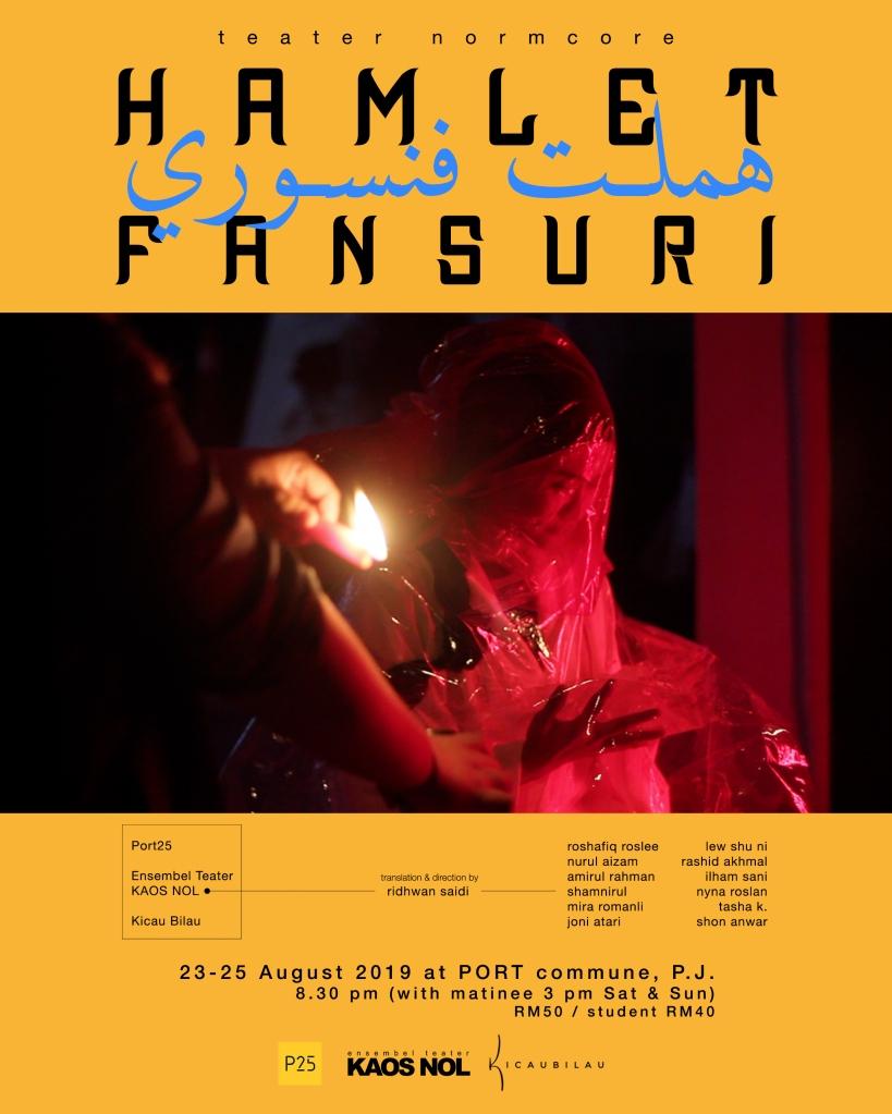 poster HAMLET FANSURI kaosnol